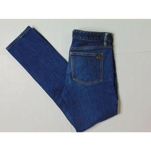 Tory Burch 28 Super Skinny Blue Jeans Denim Cotton